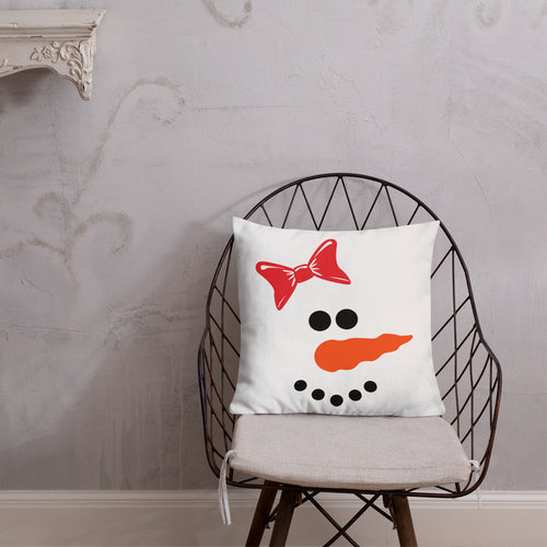 Snow Girl Premium Pillow