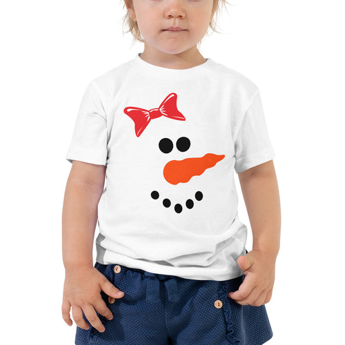 Snowgirl Toddler Short Sleeve Tee