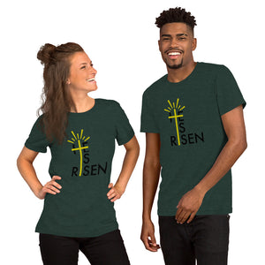 He Is Risen Short-Sleeve Men's and Women's Easter T-Shirt