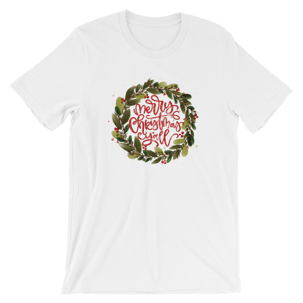Merry Christmas Y'all Short-Sleeve Women's T-Shirt