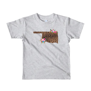 Oklahoma Floral and Leopard Short sleeve kids t-shirt
