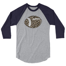 Leopard Football 3/4 sleeve Women's raglan shirt