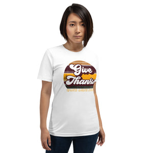 Give Thanks Retro Short-Sleeve Women's T-Shirt