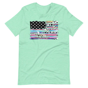 American Flag Short-Sleeve Women's T-Shirt