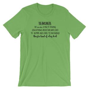 Definition of a Teacher Short-Sleeve Unisex T-Shirt