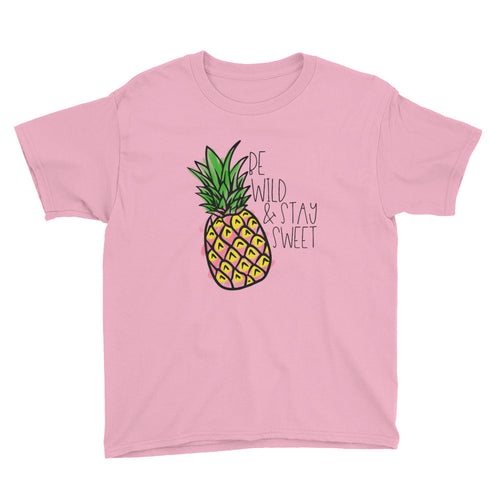 Stay Sweet Pineapple Kids Short Sleeve T-Shirt