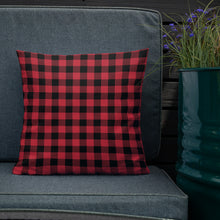 Red and Black Buffalo Plaid Premium Pillow