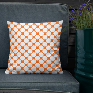 Orange Polka Dot Premium Pillow