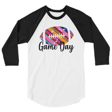 Game Day Serape Football 3/4 sleeve raglan shirt