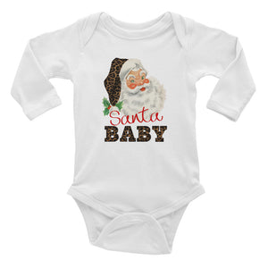 Santa Baby Infant Long Sleeve Bodysuit