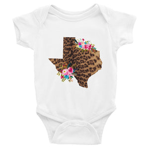 Leopard and Floral Texas Infant Bodysuit