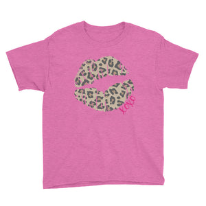 Leopard Lips XOXO Youth Short Sleeve T-Shirt