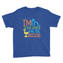 I'm Just Here For The Recess Kids Short Sleeve T-Shirt