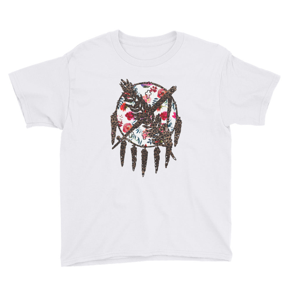 Oklahoma Warrior Shield Kids Short Sleeve T-Shirt