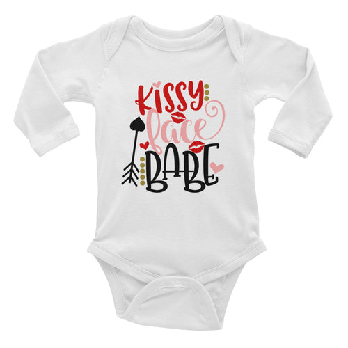 Kissy Face Babe Infant Long Sleeve Bodysuit