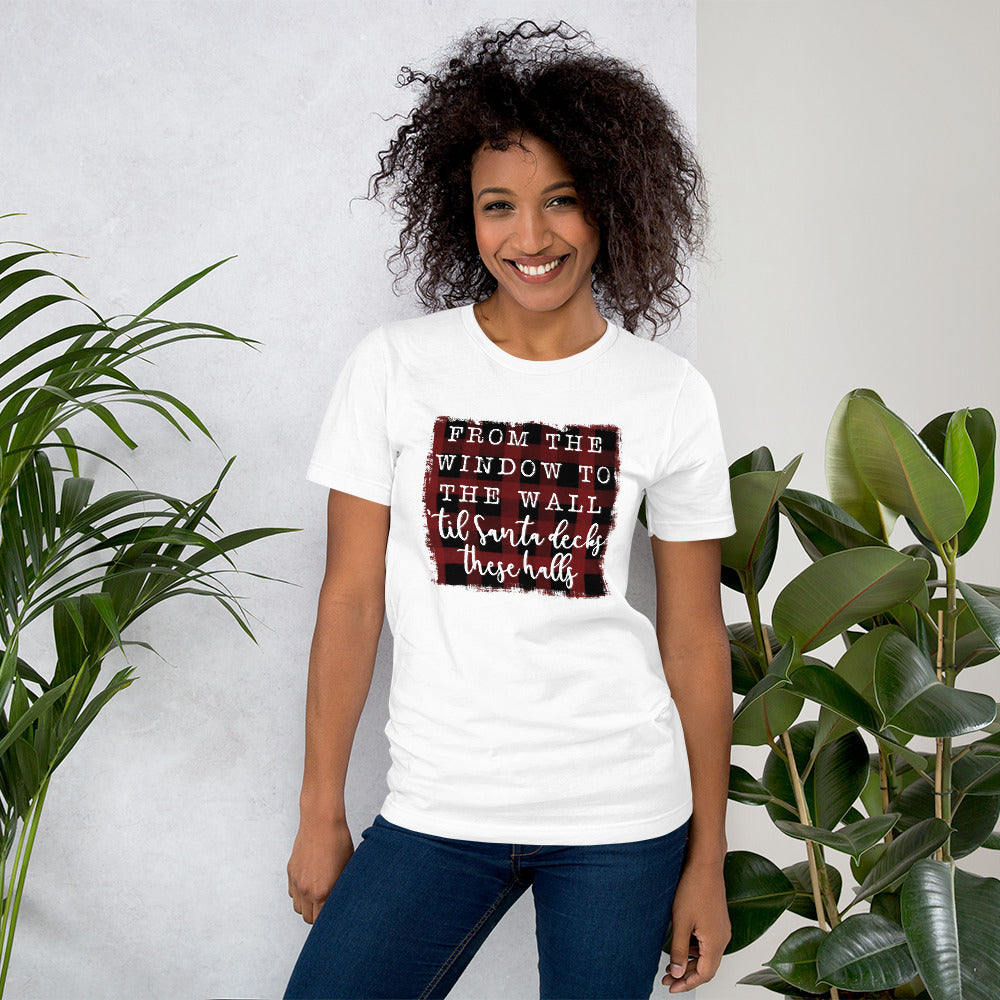 From the Windows to the Walls Christmas Short-Sleeve Women's T-Shirt