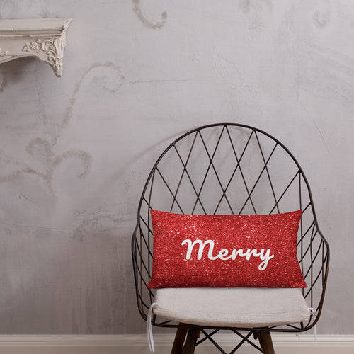 Red Merry Premium Pillow
