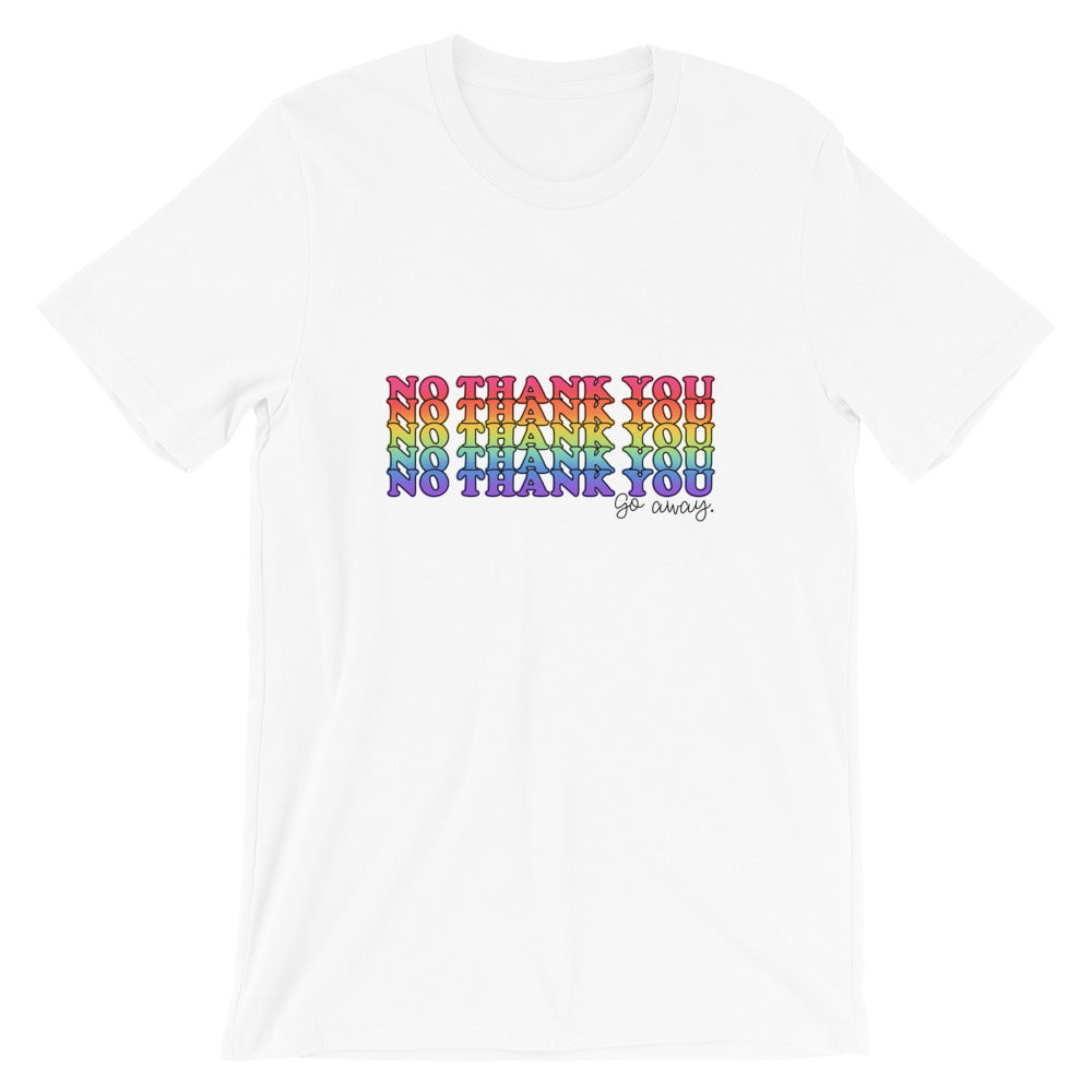 No Thank You (Go Away) Short-Sleeve Women's T-Shirt
