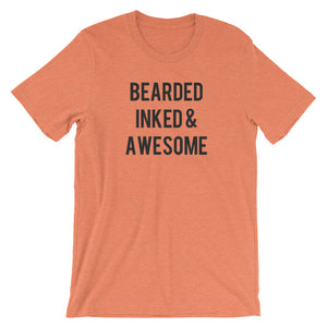 Bearded Inked & Awesome Short-Sleeve Men's T-Shirt