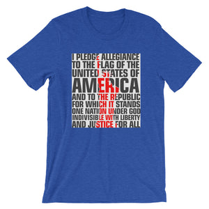 Pledge of Allegiance Short-Sleeve Men's T-Shirt