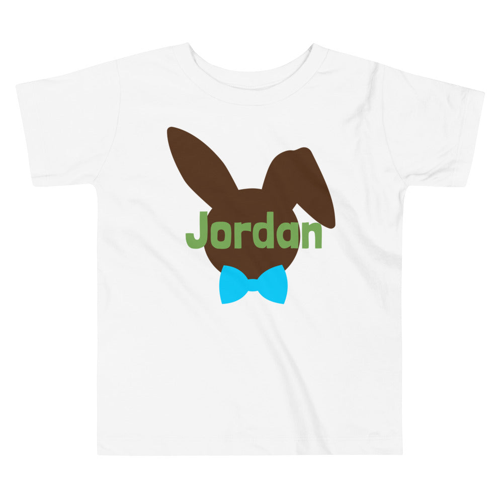 Personalized Easter Rabbit Toddler Short Sleeve Tee