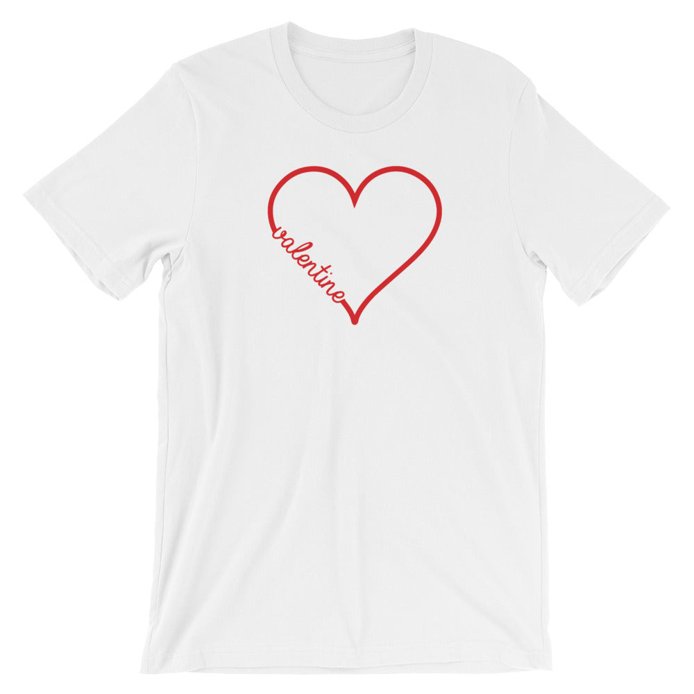 Valentine Heart Short-Sleeve Women's T-Shirt