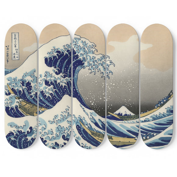 Japanese Wave 5 Skateboard Art