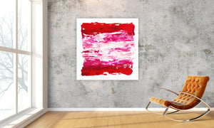 "Sideways Red » 48""W x 48""H"