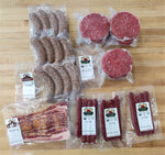 Mixed Meat Package - Family Cookout - Organic Grass Fed Beef - Organically Raised Pork