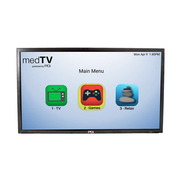 "PDI-A24, 24"" LED backlit hospital-grade TV, SMART TV"
