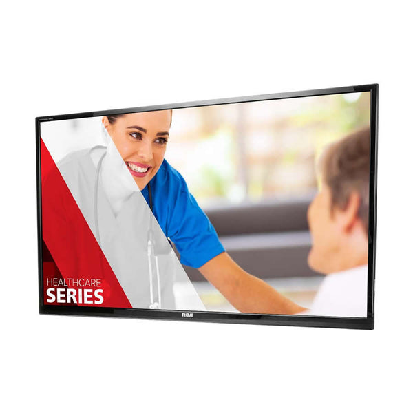 "RCA J43HE842, 43"" hospital-grade wall/ceiling mouted TV"