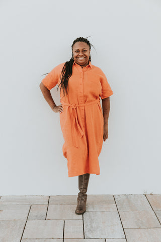 People Tree Leanora Dress in Amber