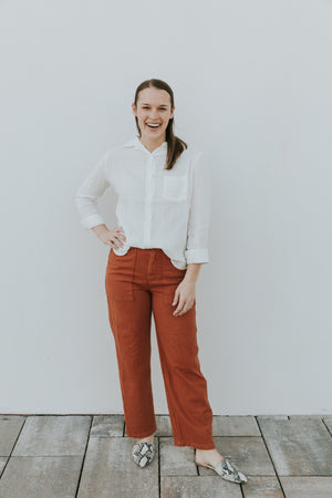 LACAUSA Arlo Trousers in Almond