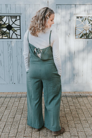 LACAUSA Brooks Jumpsuit in Seaweed