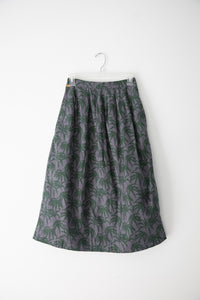Studio Jux Pleated Midi Skirt with Palm Trees