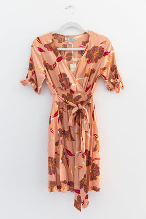 Yireh Leila Wrap Dress in Desert Lily