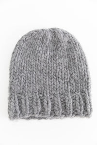 Wool and the Gang Knitted Beanie in Gray