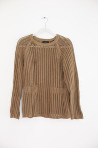Rachel Comey Loose Rib Knit Pullover Sweater in Camel