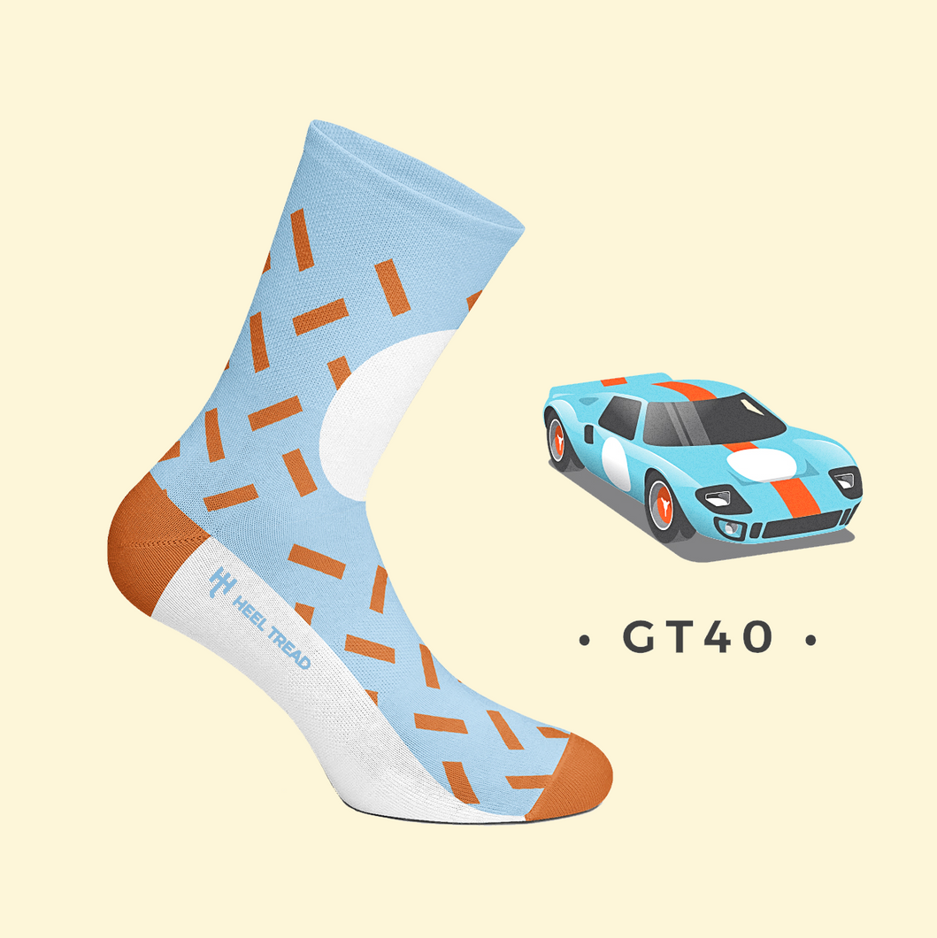 HEEL TREAD Racing Socken GT40