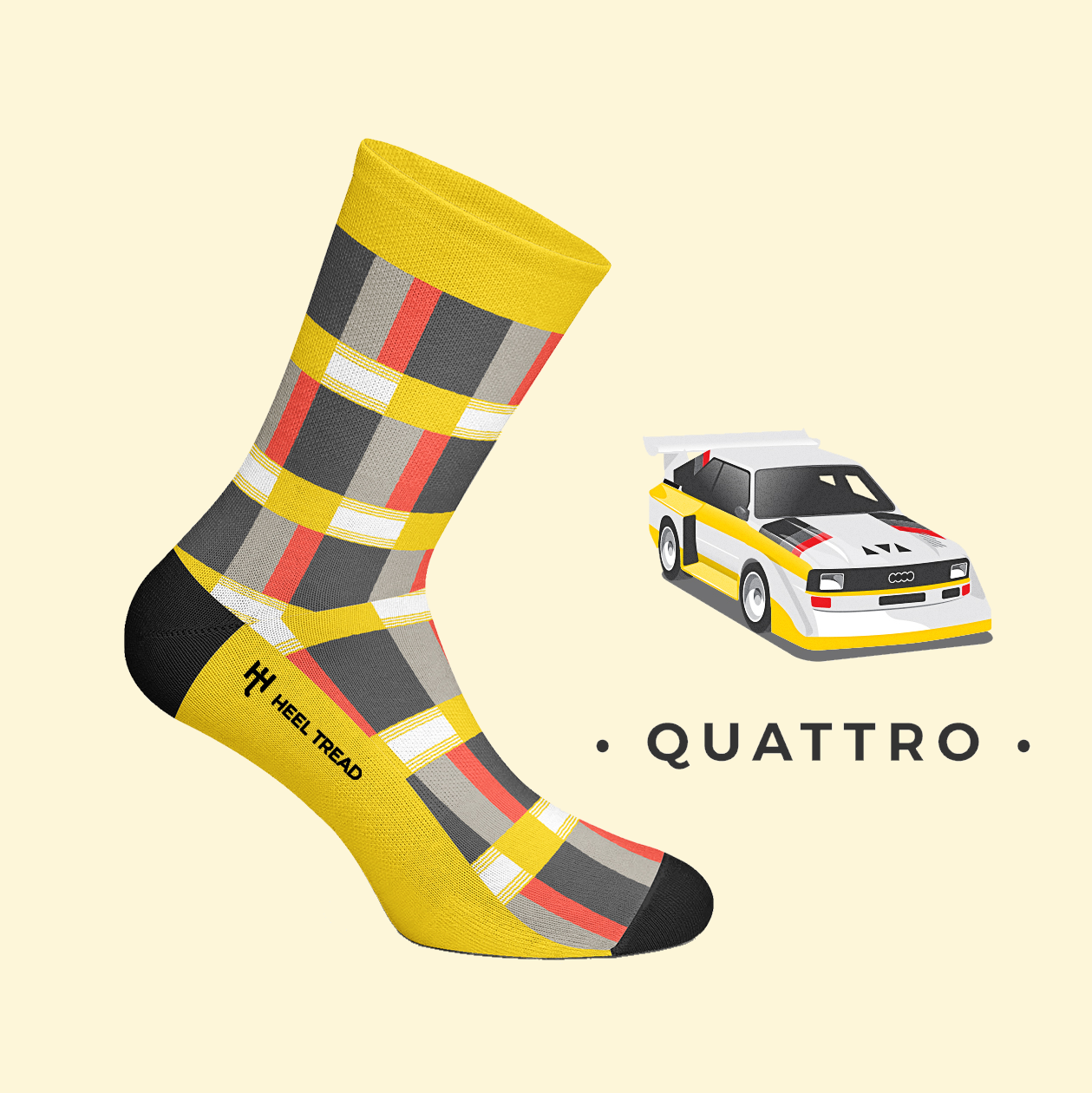 HEEL TREAD Racing Socken - Quattro
