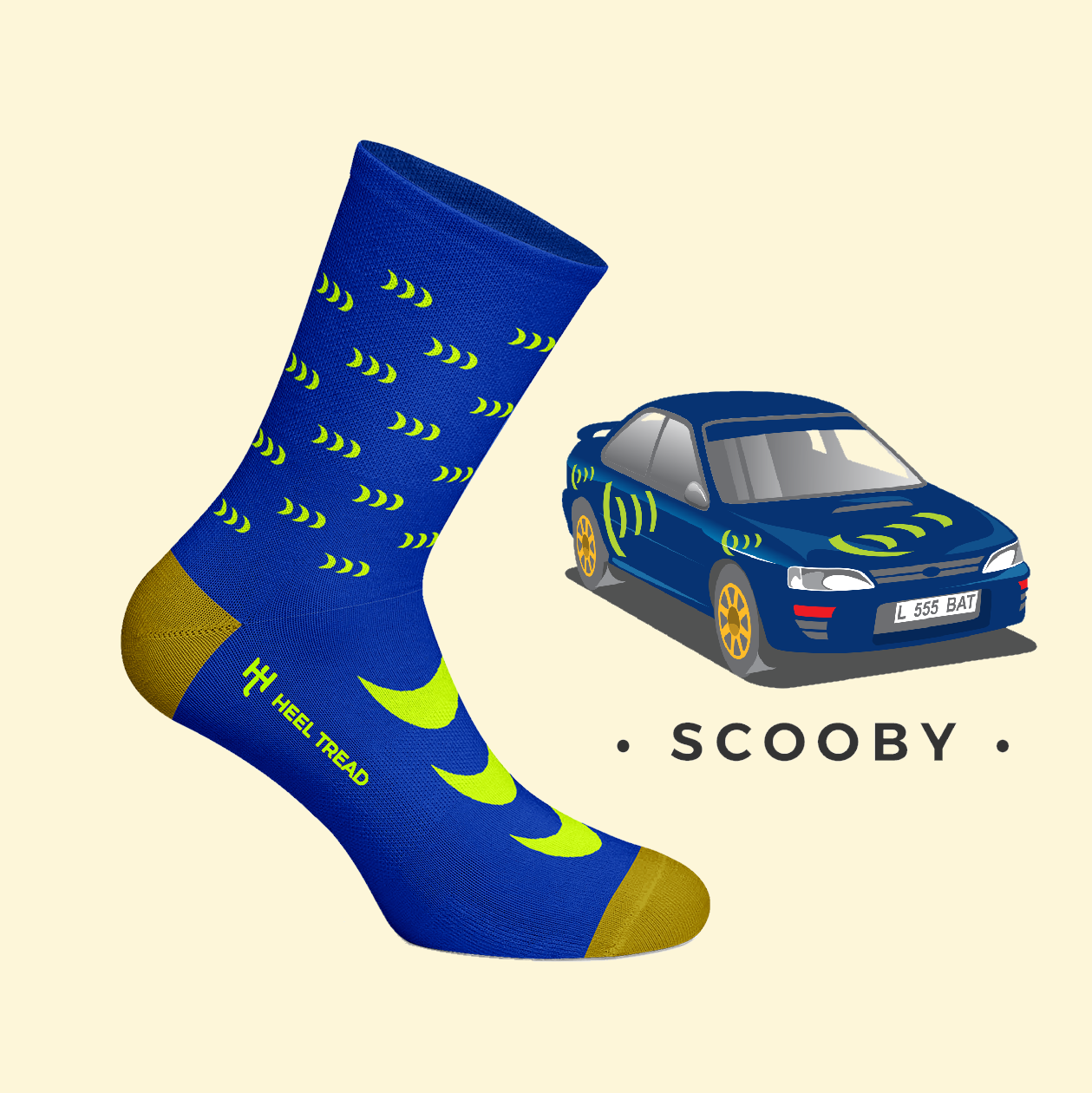 HEEL TREAD Racing Socken - Scooby