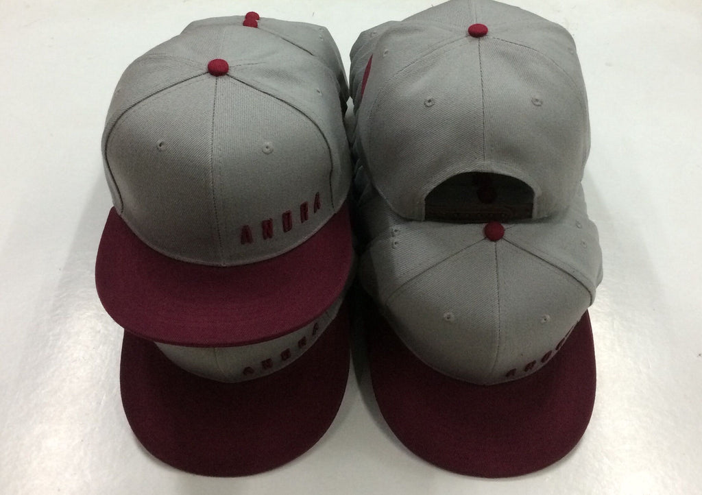 "Flat Brim Grey/Red ""Give Back Series"" Snap Back"