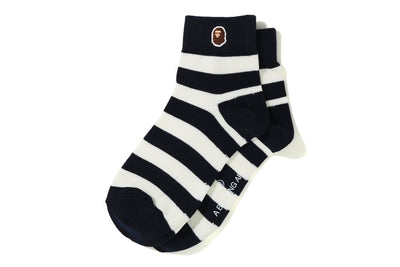 BAPE HOOP ANKLE SOCKS BLACK