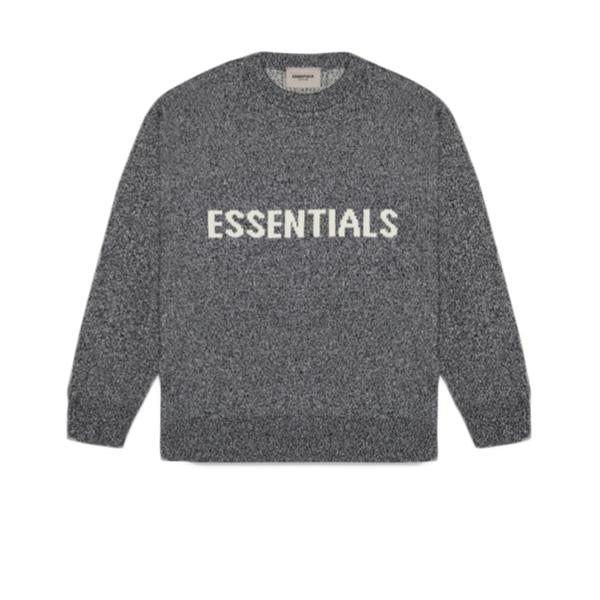 ESSENTIALS FOG KNIT SWEATER BLACK