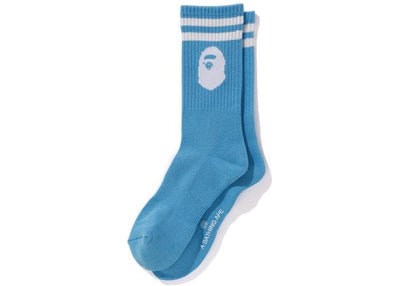 BAPE APE HEAD SOCKS BLUE