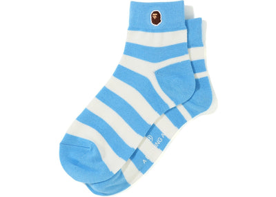 BAPE HOOP ANKLE SOCKS BLUE