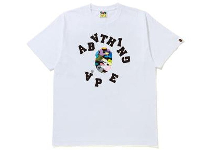 BAPE MULTI CAMO BROKEN COLLEGE TEE