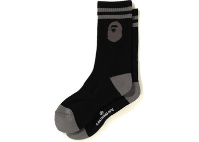 BAPE APE HEAD SOCKS BLACK