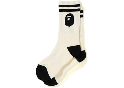 BAPE APE HEAD SOCKS WHITE
