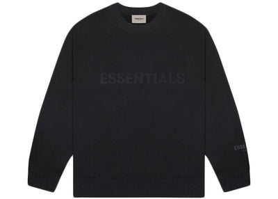 ESSENTIALS FOG 3D SILICON CREWNECK BLACK